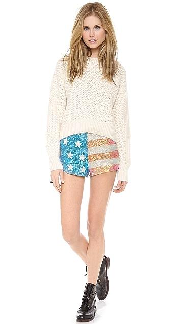 Wildfox American Glitter Shorts