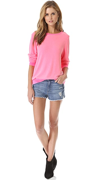 Wildfox Basic Baggy Beach Sweatshirt