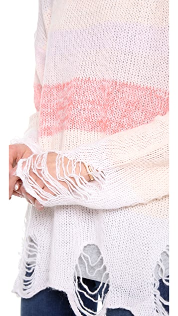 Wildfox Popsicle Loose Knit Sweater