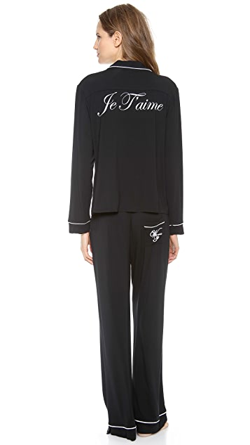 Wildfox Je T'Aime PJ Set