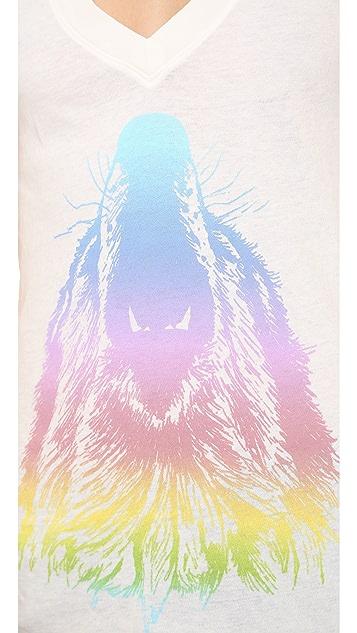 Wildfox Howl at the Rainbow Tee