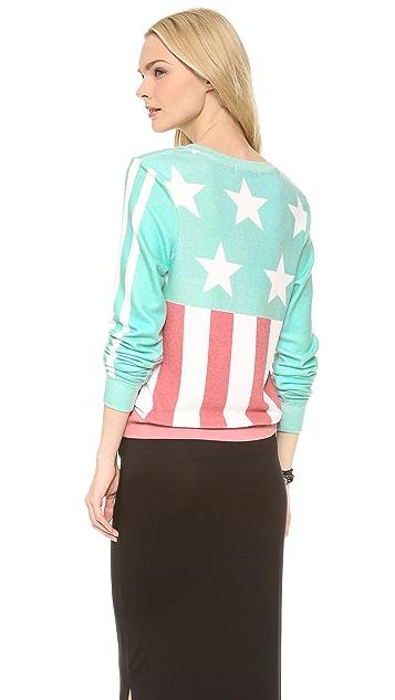 Wildfox Stars & Stripes Baggy Beach Sweatshirt