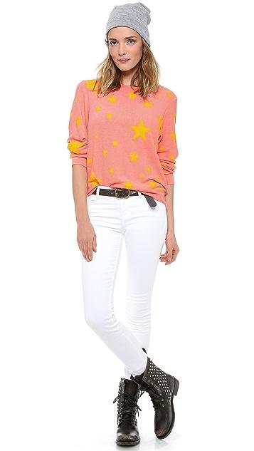 Wildfox Disco Star Baggy Beach Sweatshirt