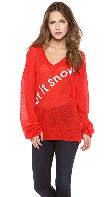 Wildfox Let it Snow! Sweater