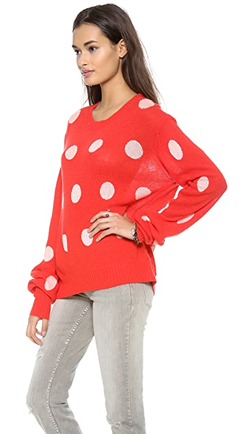 Wildfox Polka Dot It Sweater