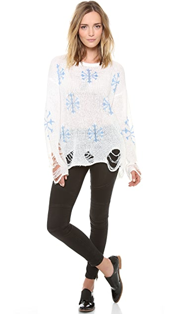Wildfox Snowflake Sweater