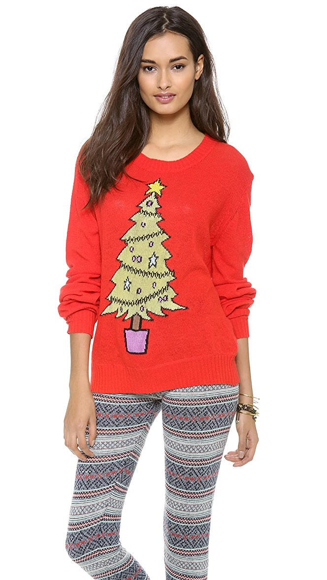 Wildfox Christmas Sweatshirt.Wildfox Baby Christmas Tree Sweater Shopbop