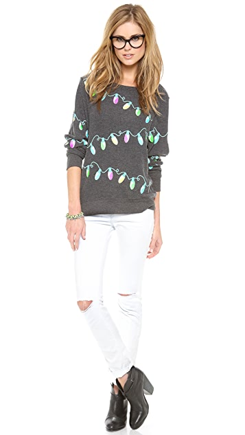 Wildfox Glowing Lights Baggy Beach Jumper