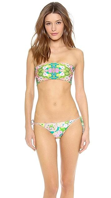 Wildfox Paisley String Bikini Bottoms