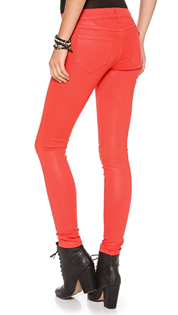 Wildfox Marianne Coated Skinny Jeans