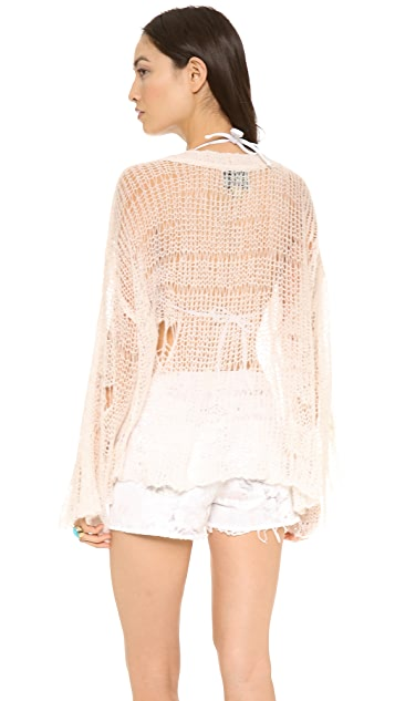 Wildfox Shell Bra Mermaid Knit Sweater
