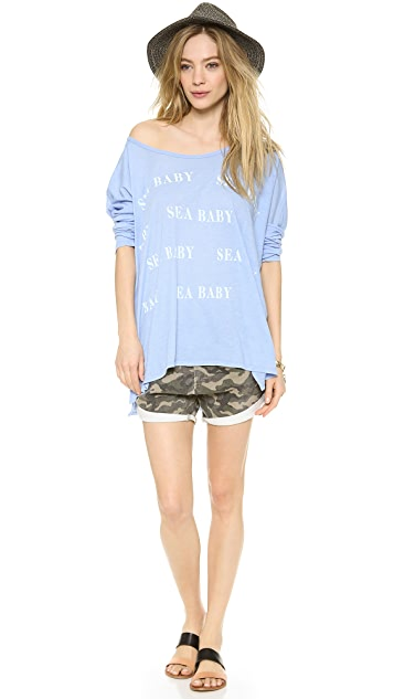 Wildfox Sea Baby Bonfire Beach Tee