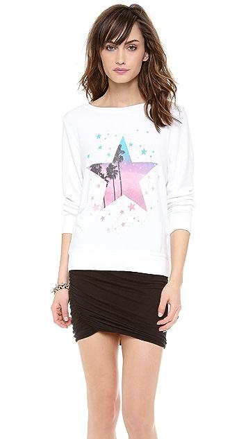 Wildfox Starry Palms Baggy Beach Sweatshirt