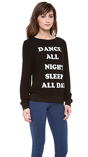 Wildfox Dance All Night Baggy Beach Sweatshirt