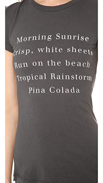 Wildfox Island List T-Shirt