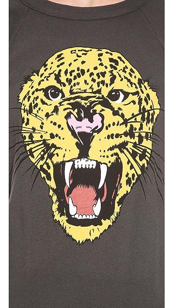 Wildfox Leopard Raglan Tee