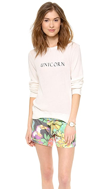 Wildfox Unicorn Baggy Beach Sweater