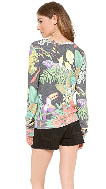 Wildfox Jungle Party Baggy Beach Sweater
