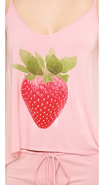 Wildfox Strawberry Champagne PJ Set