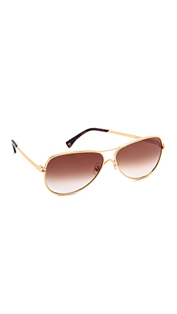 Wildfox Airfox Aviator Sunglasses