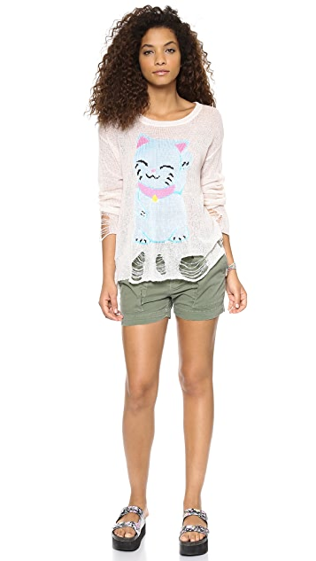 Wildfox Fat Cat Lenon Sweater
