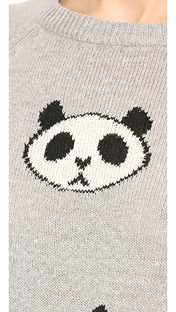 Wildfox Panda Head Party Sweater