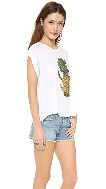 Wildfox Pineapple Day Jagged Edge Tee