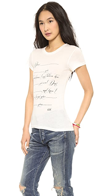 Wildfox Love Letter Tee