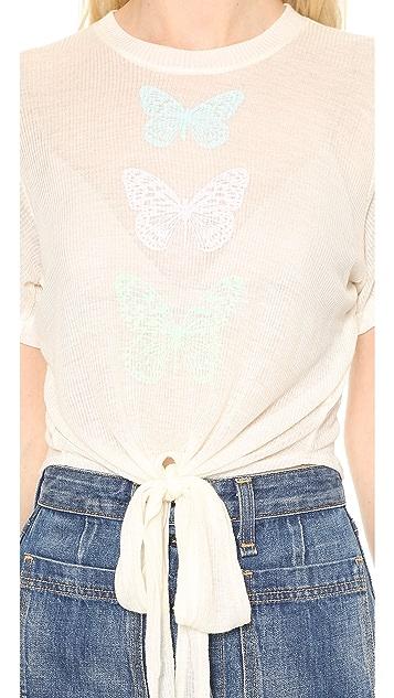 Wildfox Garden Butterflies Tee