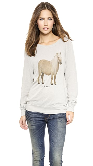 Wildfox The Perfect Gift Baggy Beach Sweatshirt