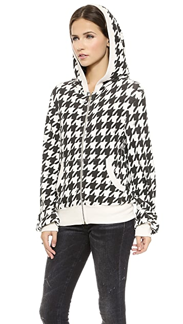 Wildfox Fox Tooth Zip Up Jacket