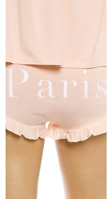 Wildfox Je T'Aime Paris Sleep Set