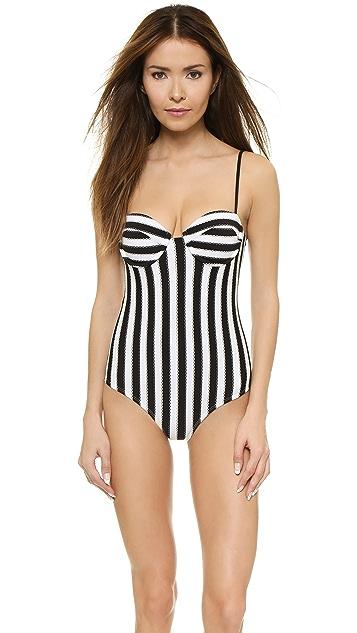 Wildfox Bel Air Stripe Swimsuit