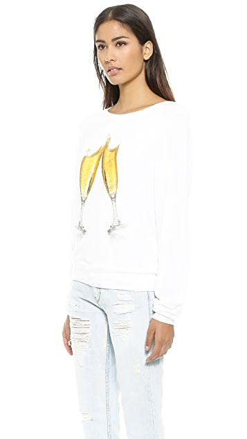 Wildfox Toast the New Year Baggy Beach Sweatshirt