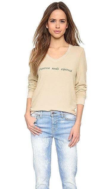 Wildfox Depresso Espresso Sweatshirt