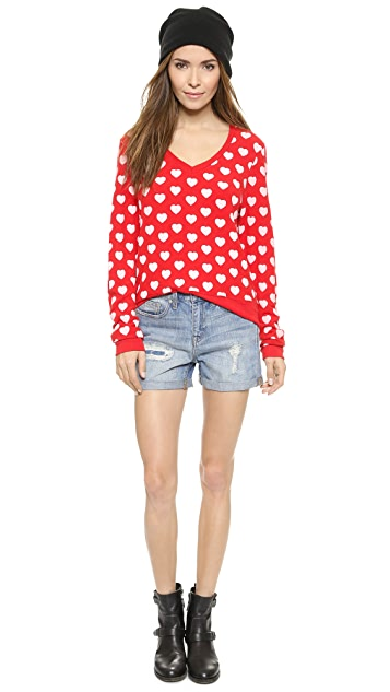 Wildfox Little Hearts Pullover