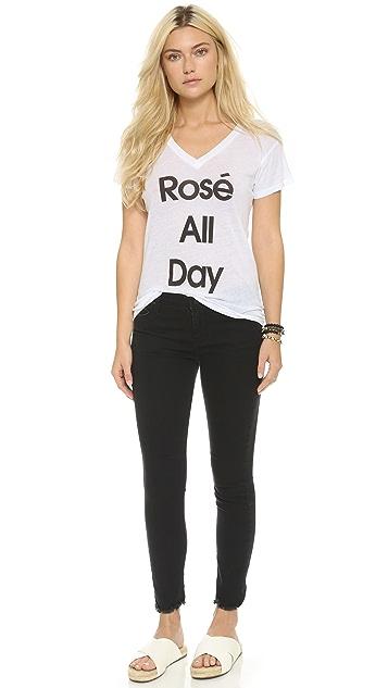 Wildfox Свободная футболка Rose All Day