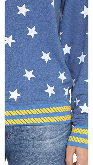 Wildfox Starry Sailor Baggy Beach Sweatshirt