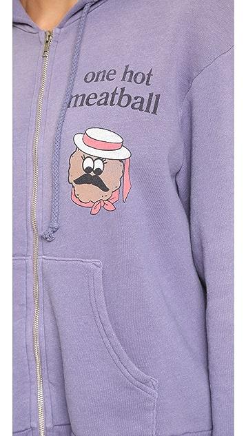 Wildfox Hot Meatball Love Story Zip Hoodie