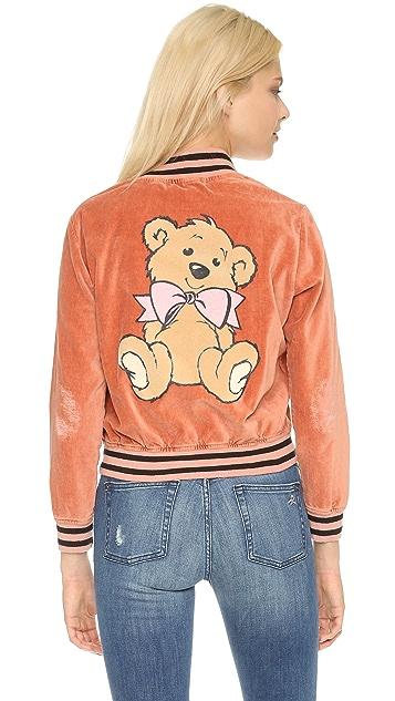 Wildfox Teddy Baseball Jacket