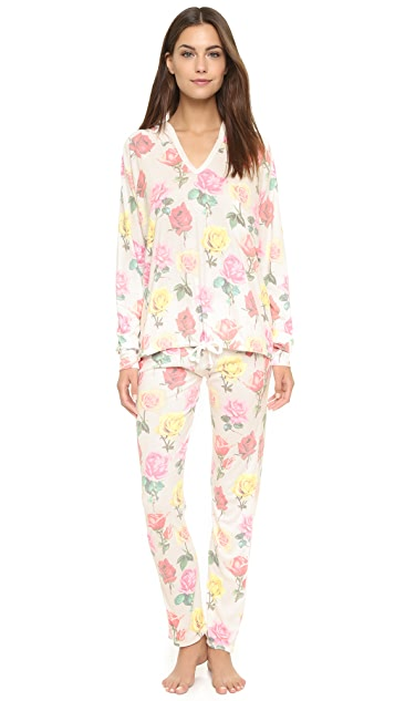 Wildfox Bright Roses Lounge Pants