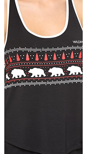 Wildfox Alaska Bears PJ Set