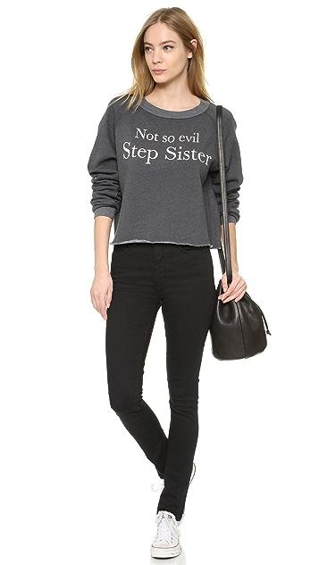 Wildfox Not So Evil Step Sister Crop Sweatshirt