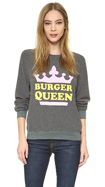 Wildfox Burger Queen Baggy Beach Sweatshirt