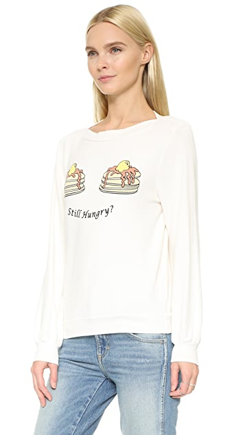 Wildfox Still Hungry Brunch Sweatshirt
