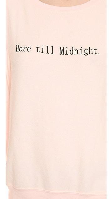 Wildfox Here Till Midnight Baggy Beach Sweatshirt