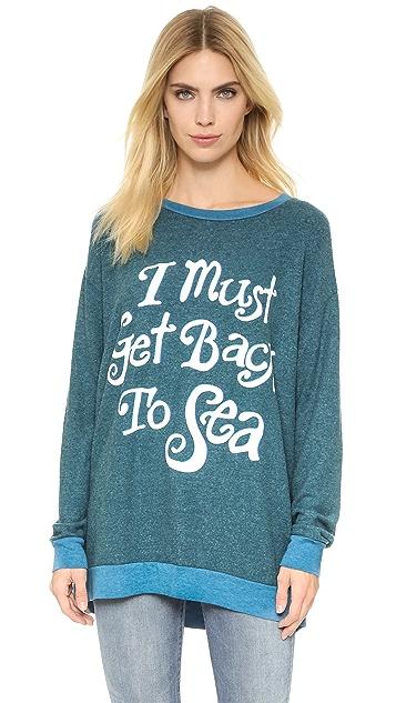 Wildfox Must Get Back to Sea Roadtrip Sweatshirt
