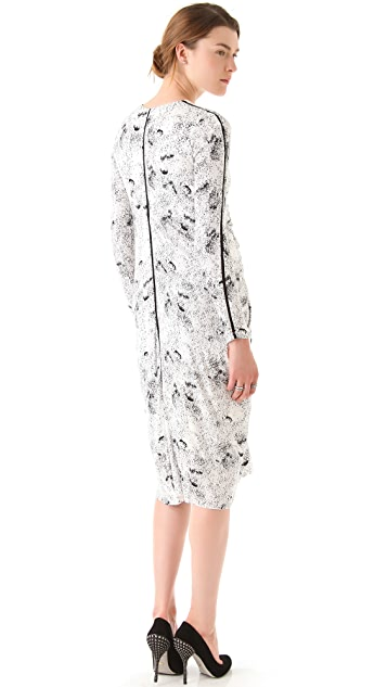 Willow Draped Print Dress