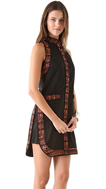Willow Shift Dress with Tweed Trim