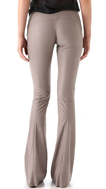 Willow Fitted Flare Leathertex Pants